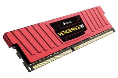 Corsair VENGEANCE LP RED 4GB / DDR3L / 1600MHz / PC3-12800 / CL9-9-9-24 / 1.35V / XMP / s chladičem