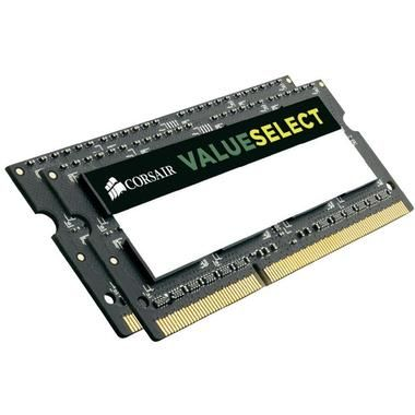 Corsair VALUE SELECT 16GB / 2x8GB / SO-DIMM / DDR3 / PC3-10666 / 1333MHz  / CL9-9-9-24 / 1.5V