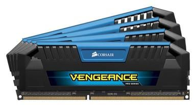 Corsair VENGEANCE PRO BLUE 32GB / 4x8GB / DDR3 / 1600MHz / PC3-12800 / CL9-9-9-24 / XMP1.3 / 1.5V / s chladičem
