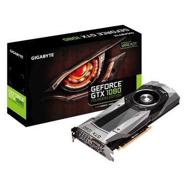 GIGABYTE GeForce GTX 1080 Founders Edition / 1607-1733MHz / 8GB D5X 10GHz / 256-bit / DVI, HDMI, 3x DP / 225W (8)