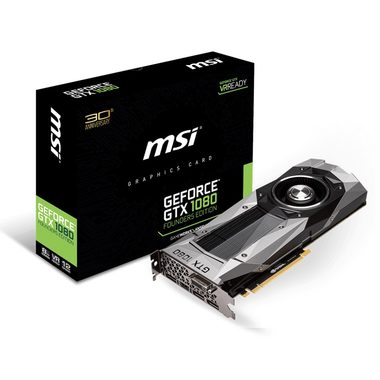 MSI GeForce GTX 1080 Founders Edition / 1607-1733MHz / 8GB D5X 10GHz / 256-bit / DVI, HDMI, 3x DP / 225W (8)