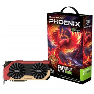 Gainward GeForce GTX 1080 Phoenix GS / 1708-1847MHz / 8GB D5X 10GHz / 256-bit / DVI, HDMI, 3x DP / 300W (8+6)