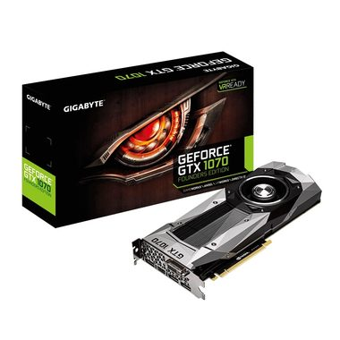 GIGABYTE GeForce GTX 1070 Founders Edition / 1506-1683MHz / 8GB D5 8GHz / 256-bit / DVI, HDMI, 3x DP / 225W (8)