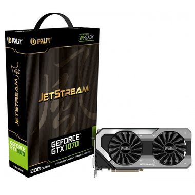 Palit GeForce GTX 1070 JetStream / 1506-1683MHz / 8GB D5 8GHz / 256-bit / DVI + HDMI + 3x DP / 225W (8)