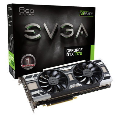 EVGA GeForce GTX 1070 ACX 3.0 / 1506-1683MHz / 8GB D5 8GHz / 256-bit / DVI, HDMI, 3x DP / 225W (8)