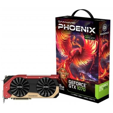 Gainward GeForce GTX 1070 Phoenix GS / 1632-1835MHz / 8GB D5 8GHz / 256-bit / DVI, HDMI, 3x DP / 225W (8)