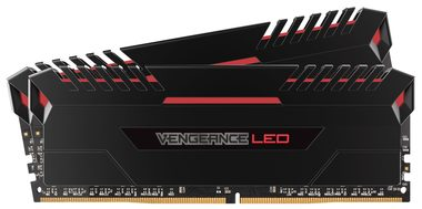 Corsair Vengeance LED16GB (2x8GB) / DDR4 / 2666MHz / C16 / XMP 2.0 / černá / RED LED