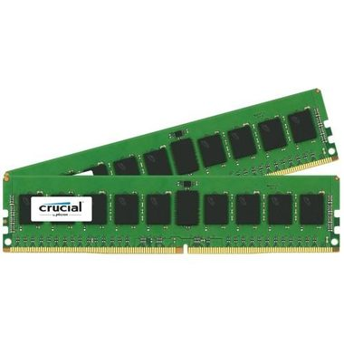 Crucial 32GB(2x16GB) / DDR4 / 2400MHz / PC4-19200 / CL17 / 1.2V / Dual Ranked x8