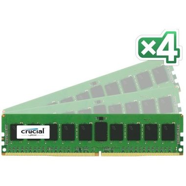 CRUCIAL 32GB(4x8GB) / DDR4 / ECC / Unbuffered / 2133MHz / PC4-17000 / CL15 / 1.2V / Dual Ranked x8