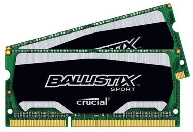 Crucial Ballistix Sport 8GB(2x4GB) / DDR3 / SO-DIMM / 1866MHz / PC3-14900 / CL10 / 1.35/1.50V / XMP