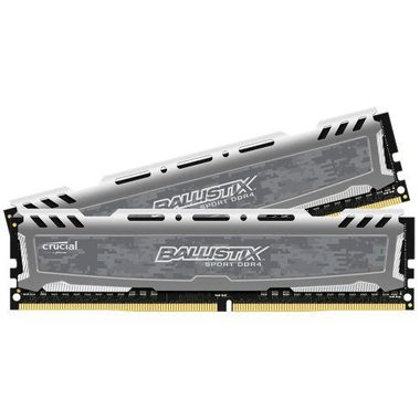 Crucial Ballistix Sport LT Grey 32GB(2x16GB) / DDR4 / 2400MHz / PC4-19200 / CL16 / 1.2V / Dual Ranked x8