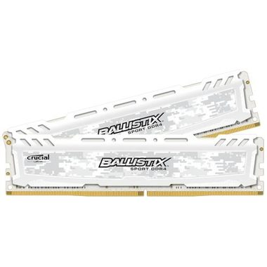 Crucial Ballistix Sport LT White 8GB(2x4GB) / DDR4 / 2400MHz / PC4-19200 / CL16 / 1.2V / Single Ranked x8