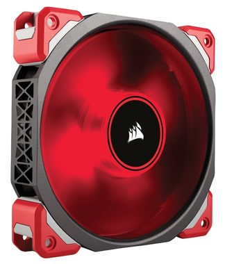 Corsair ML120 PRO LED Red / 120mm / Magnetic Levitation Bearing / 37dB @ 2400RPM / 127m3h / 4.2mm H2O / 0.225A / 4-pin