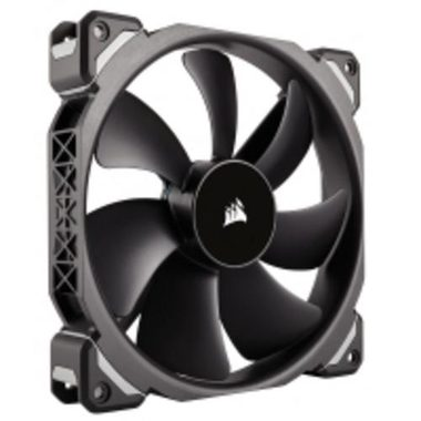 Corsair ML140 PRO Black / 140mm / Magnetic Levitation Bearing / 37dB @ 2000RPM / 165m3h / 3mm H2O / 0.202A / 4-pin