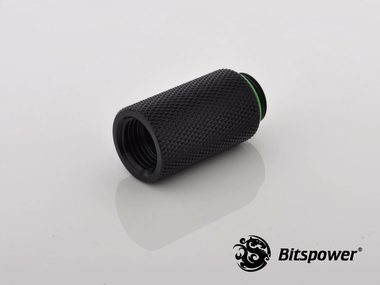 Bitspower Extender 30mm M-F G1/4 - Black