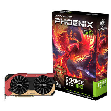 Gainward GeForce GTX 1060 Phoenix GS / 1620-1847MHz / 6GB D5 8GHz / 192-bit / DVI, HDMI, 3x DP / 150W (6)