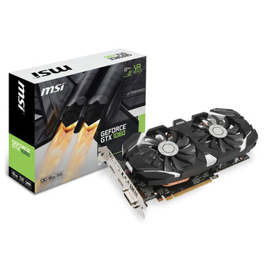 MSI GeForce GTX 1060 6GT OC / 1544-1759MHz / 6GB D5 8GHz / 192-bit / DVI, HDMI, 3x DP / 150W (6)