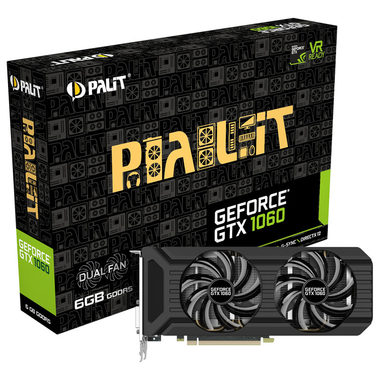 PALIT GeForce GTX 1060 Dual / 1506-1708MHz / 6GB D5 8GHz / 192-bit / DVI + HDMI + 3x DP / 150W (6)