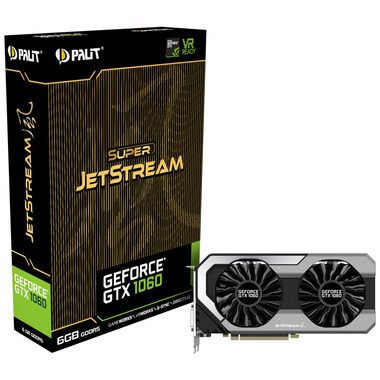 PALIT GeForce GTX 1060 Super JetStream / 1620-1847MHz / 6GB D5 8GHz / 192-bit / DVI + HDMI + 3x DP / 225W (8)