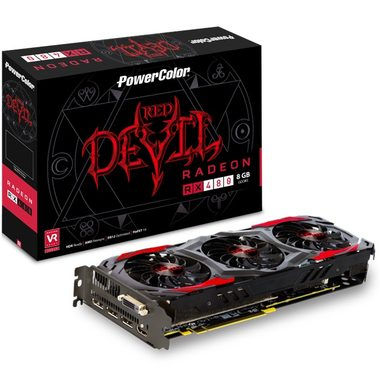 PowerColor Red Devil Radeon RX 480 8GB / 1120-1330MHz / 8GB D5 8GHz / 256-bit / DVI + HDMI + 3x DP / 225W (8)