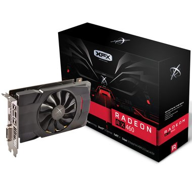 XFX Radeon RX 460 2GB Single Fan / 1090-1220MHz / 2GB D5 7GHz / 128-bit / DVI + HDMI + DP / 75W (6)