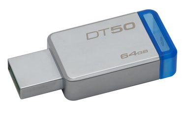 Kingston DataTraveler 50 64GB / Flash Disk / USB 3.0 / modrá