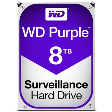 "WD Purple 8TB / HDD / 3.5"" SATA III / 5 400 rpm / 128MB cache / 3y"