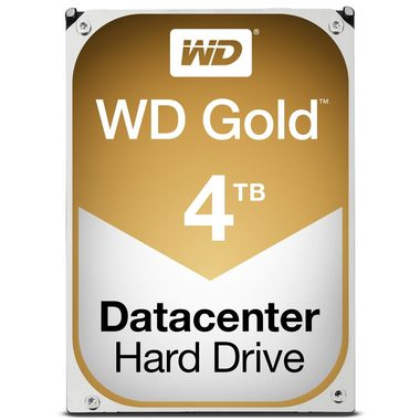 "WD Gold 4TB / HDD / 3.5"" SATA III / 7 200 rpm / 128MB cache / 5y"