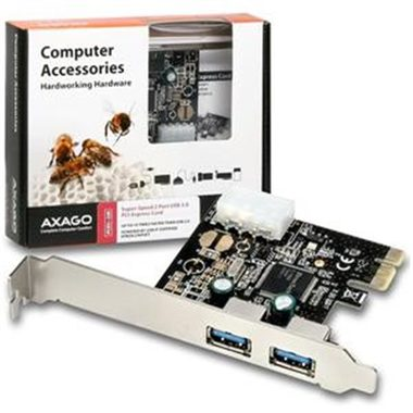 AXAGO PCI-Express adapter 2x USB3.0 ETRON