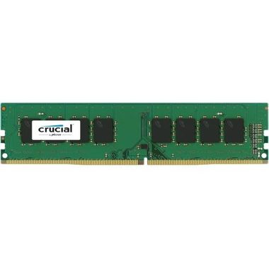 Crucial 4GB / UDIMM / DDR4 / 2400MHz / PC4-19200 / CL17 / 1.2V / Single Ranked x8