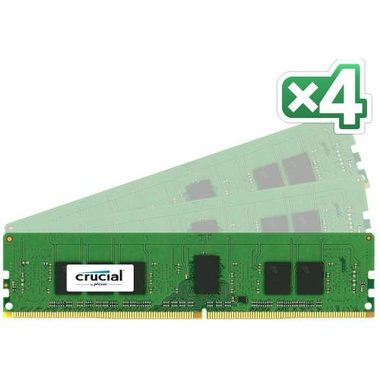 CRUCIAL 32GB (4x8GB) / UDIMM / DDR4 / 2400MHz / PC4-19200 / CL17 / 1.2V / Dual Ranked x8