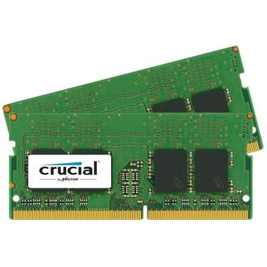 Crucial 16GB (2x8GB) / DDR4 / SO-DIMM / 2400MHz / PC4-19200 / CL17 / 1.2V / Single Ranked x8