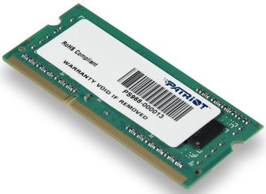 Patriot 4GB / SO-DIMM / DDR3 / PC3-10666 / 1333MHz / CL9