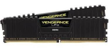 Corsair VENGEANCE LPX BLACK 32GB / 2x16GB / DDR4 /  2400MHz / PC4-19200 / CL16-16-16-39 / 1.2V / XMP2.0 / s chladičem