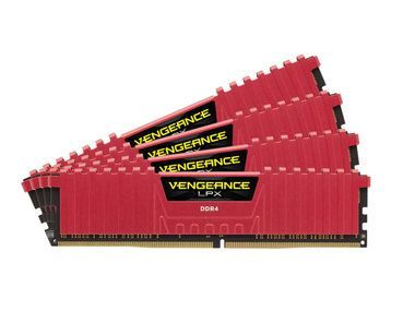 Corsair VENGEANCE LPX RED 32GB / 4x8GB / DDR4 / 3000MHz / PC4-24000 / CL15-15-15-36 / 1.35V / XMP2.0 / s chladičem