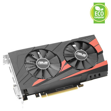 ASUS EX-GTX1050-2G / 1354-1455MHz / 2GB D5 7GHz / 128-bit / DVI, HDMI, DP / 75W