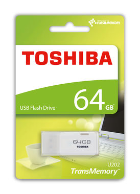 TOSHIBA U202 64GB USB Flash bílá / Flash Disk / USB 2.0 / výprodej