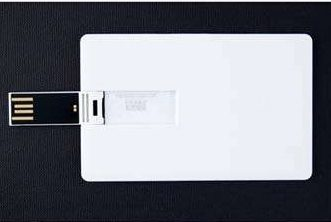 GOODRAM Plastic Credit Card 8GB bílá / USB Flash disk / USB 2.0 / bez potisku