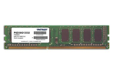 Patriot 8GB 1333MHz / DIMM / DDR3 / CL9 / Non-ECC / Unbuffered / 1.5V