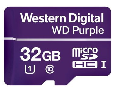 WD Micro SDHC Purple 32GB / MicroSDHC / R: 80MBps / W: 50 MBps / Class 10 UHS-I