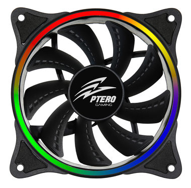 EVOLVEO Ptero FR1 / RGB ventilátor / 120 mm / Rifle Bearing / 23 dB @ 1100 RPM / 32 CFM / 5V / 6-pin