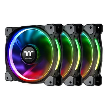 THERMALTAKE Riing Plus 12 LED RGB TT Premium Edition (3ks) / ventilátor / 120 x 120 x 25 mm / 1500 RPM / 24.7 dB