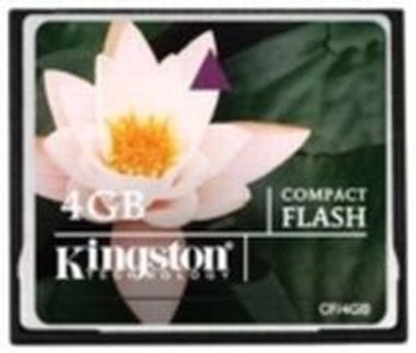 Kingston Compact Flash 4GB / 6MB/s čtení / 5MB/s zápis