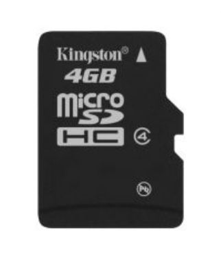 Kingston 4GB microSDHC Memory Cad - single pack bez adaptéru