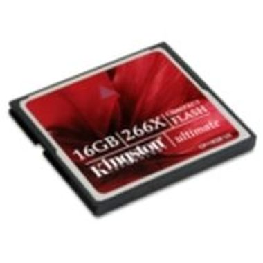 Kingston Compact Flash Ultimate 266x 16GB / 45MB/s čtení / 40MB/s zápis