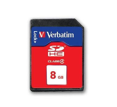 8GB VERBATIM SecureDigital SDHC / 4MBs / class 4