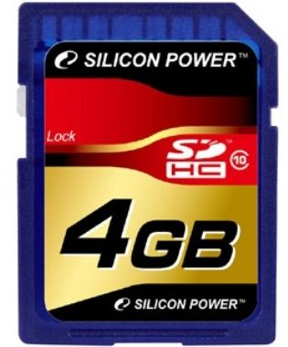 Silicon Power 4 GB / SDHC / Paměťová karta / Class 10