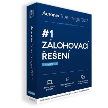 Acronis True Image 2016 / Upgrade / 1 PC  / Win a OS X / BOX