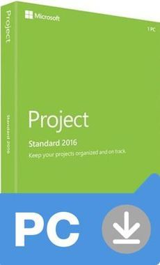 Microsoft Project Standard 2016 (Nekompatibilní s Office 2013) / Elektronická licence / 1 PC / Click-to-Run / Win