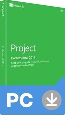 Microsoft Project Professional 2016 (Nekompatibilní s Office 2013) / Elektronická licence / 1 PC / Click-to-Run / Win